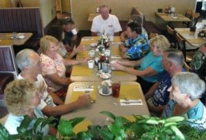 Family and Friends at Dinner at Brookside Family Restaurant