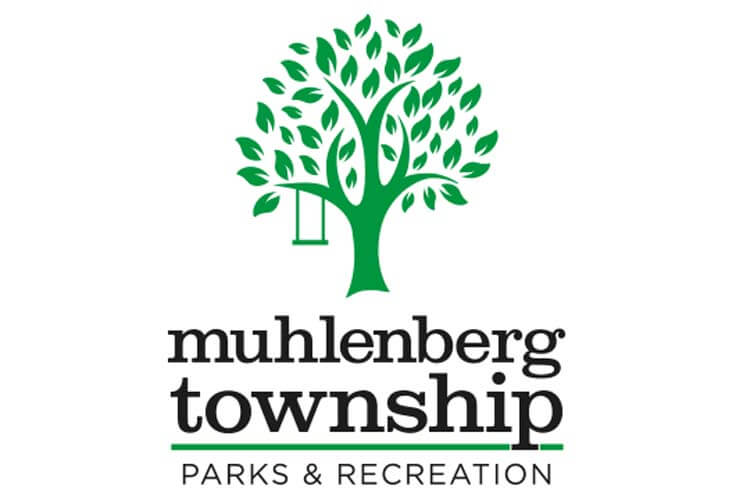 Logo of Green Tree with swing for the Muhlenberg Township Parks and Recreation Department in Berks County, PA