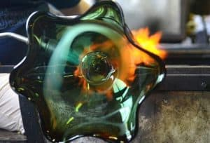 Glass bowl created at Taylor Backes