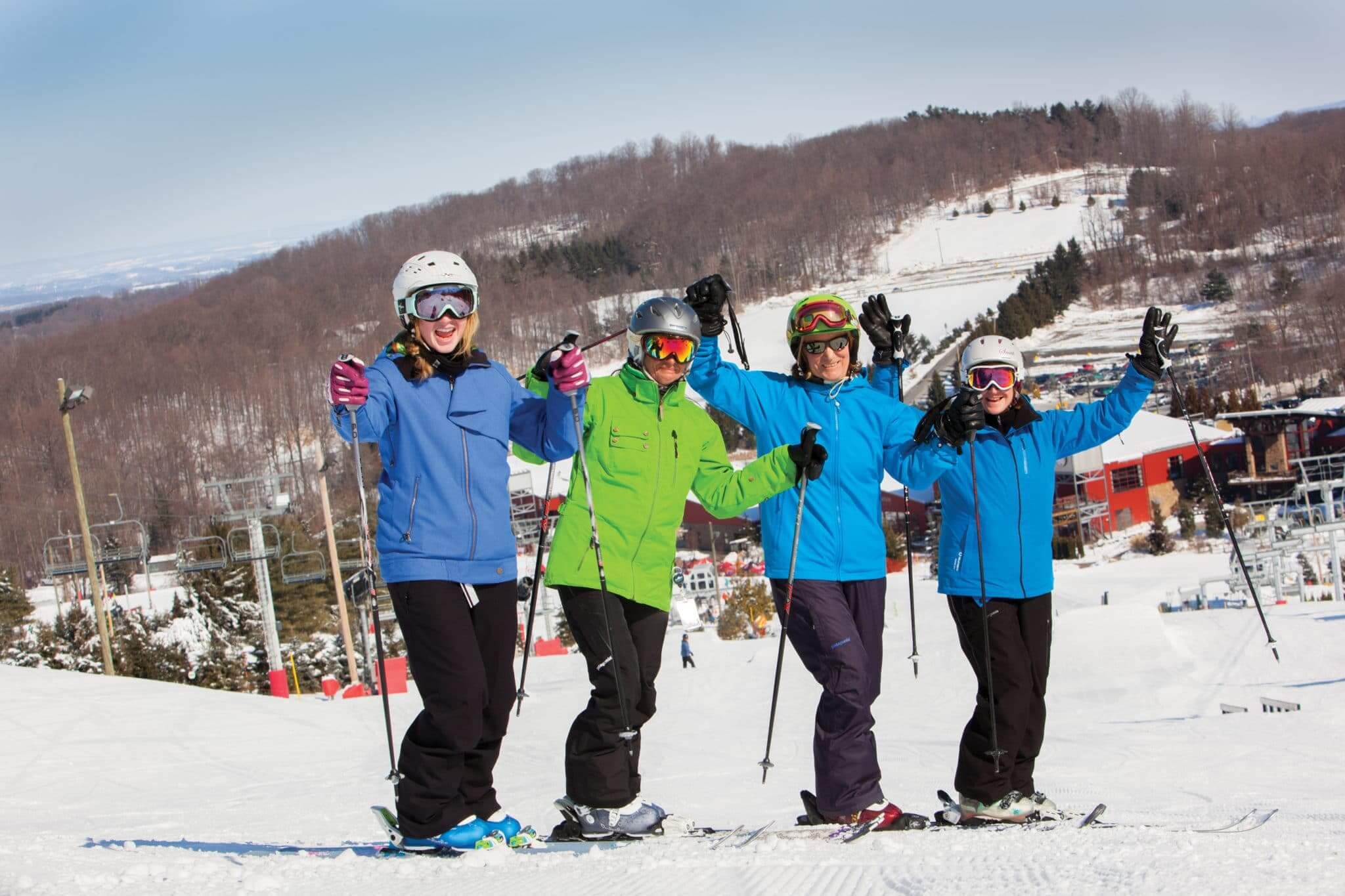 4 Women Skiiers at Bear Creek