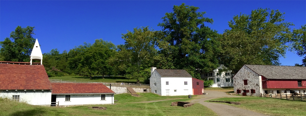 The grounds of Hopewell Furnace National Historic Site, operated as an iron plantation from 1771-1883.