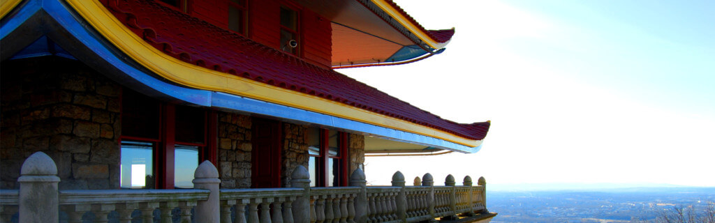 Pagoda roof with scenery hero
