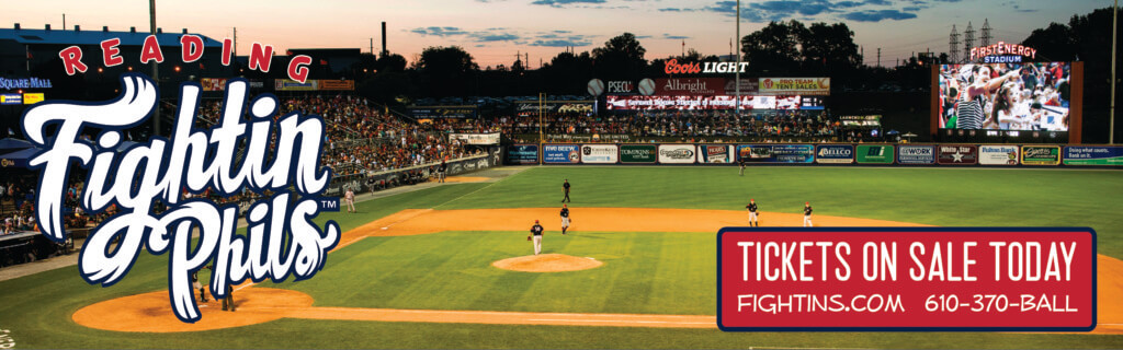 Reading Fightin Phils baseball team at First Energy Stadium in Reading, Pennsylvania