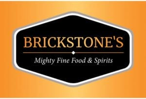 Brickstone's Mighty Fine Food & Spirits logo