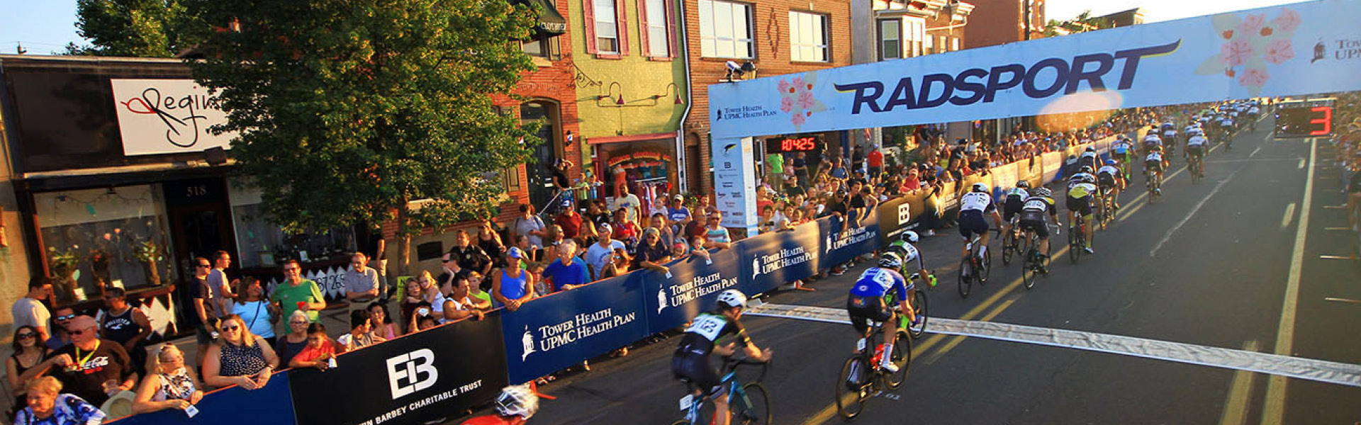 Bikers race on Penn Avenue in West Reading for the Reading Radsport
