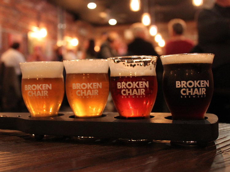 Four Beer Samples from Broken Chair Brewery