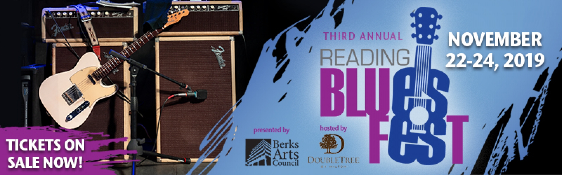 Reading Blues Fest advertisement November 22nd to November 24th